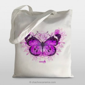 Talega mariposa violeta